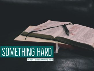Blog: Something Hard | When I did something hard | Stacey Sansom