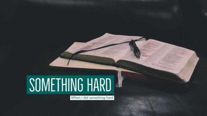 Blog: Something Hard | When I did something hard | Stacey Sansom